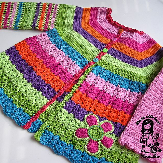 Flower cardigan - updated version February 2013 - Magic ...