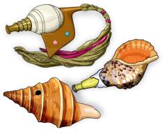 貝のラッパ