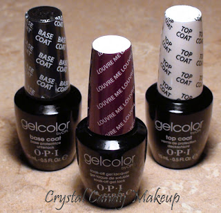 GelColor by OPI - Base Coat, Louvre Me Louvre Me Not, Top Coat