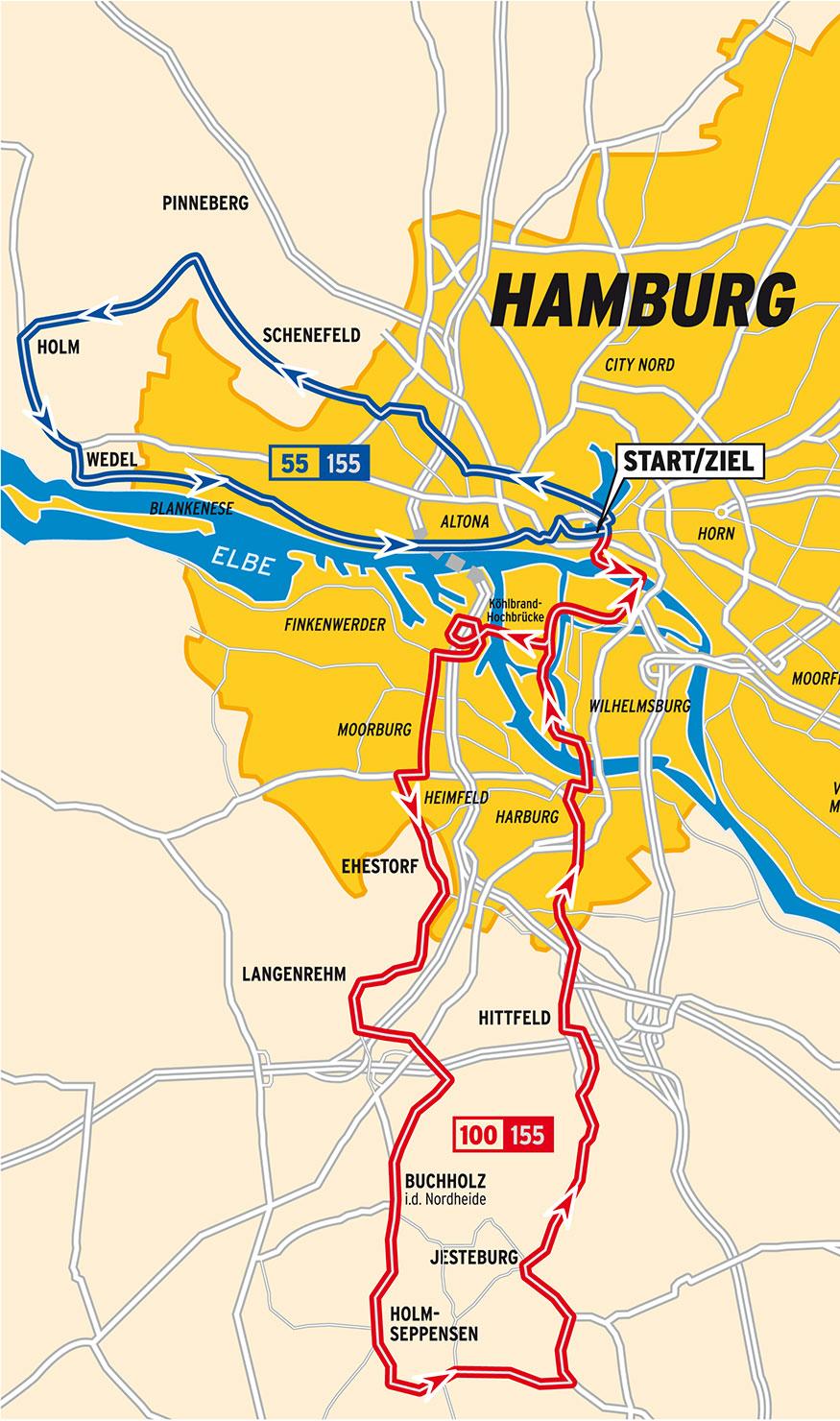 Cyclassics-Streckenabfahrt, Cyclassics-Strecke