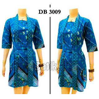 DB3009 - Model Baju Dress Batik Tulis Modern Terbaru 2013