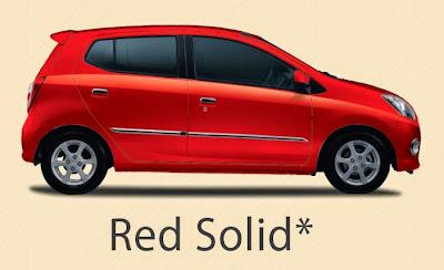 Pilihan Warna Daihatsu Ayla Red Solid