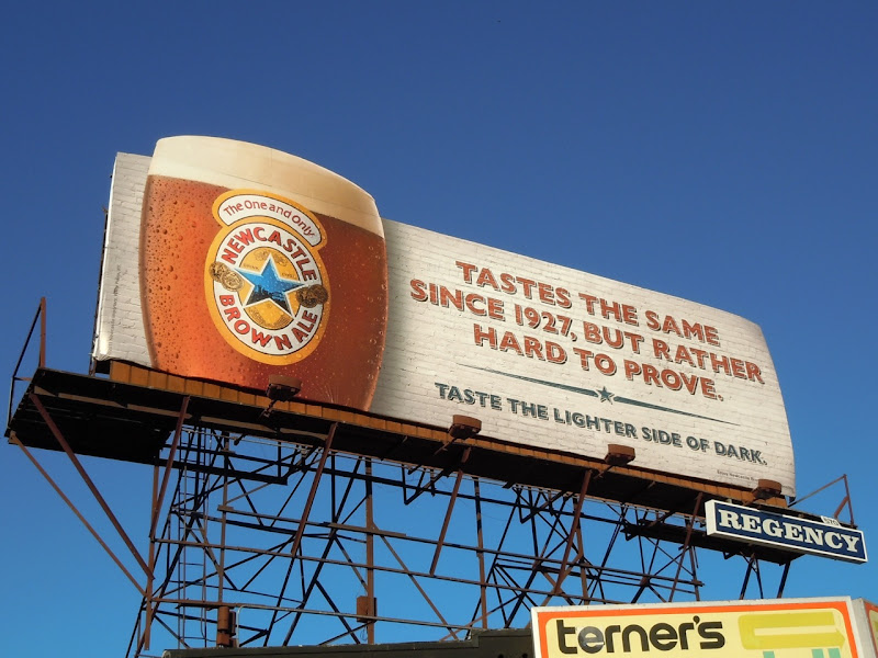 Newcastle Brown since 1927 billboard