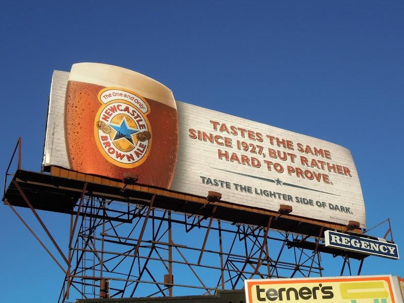 Newcastle Brown since 1927 billboard