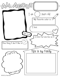Astounding image with printable all about me