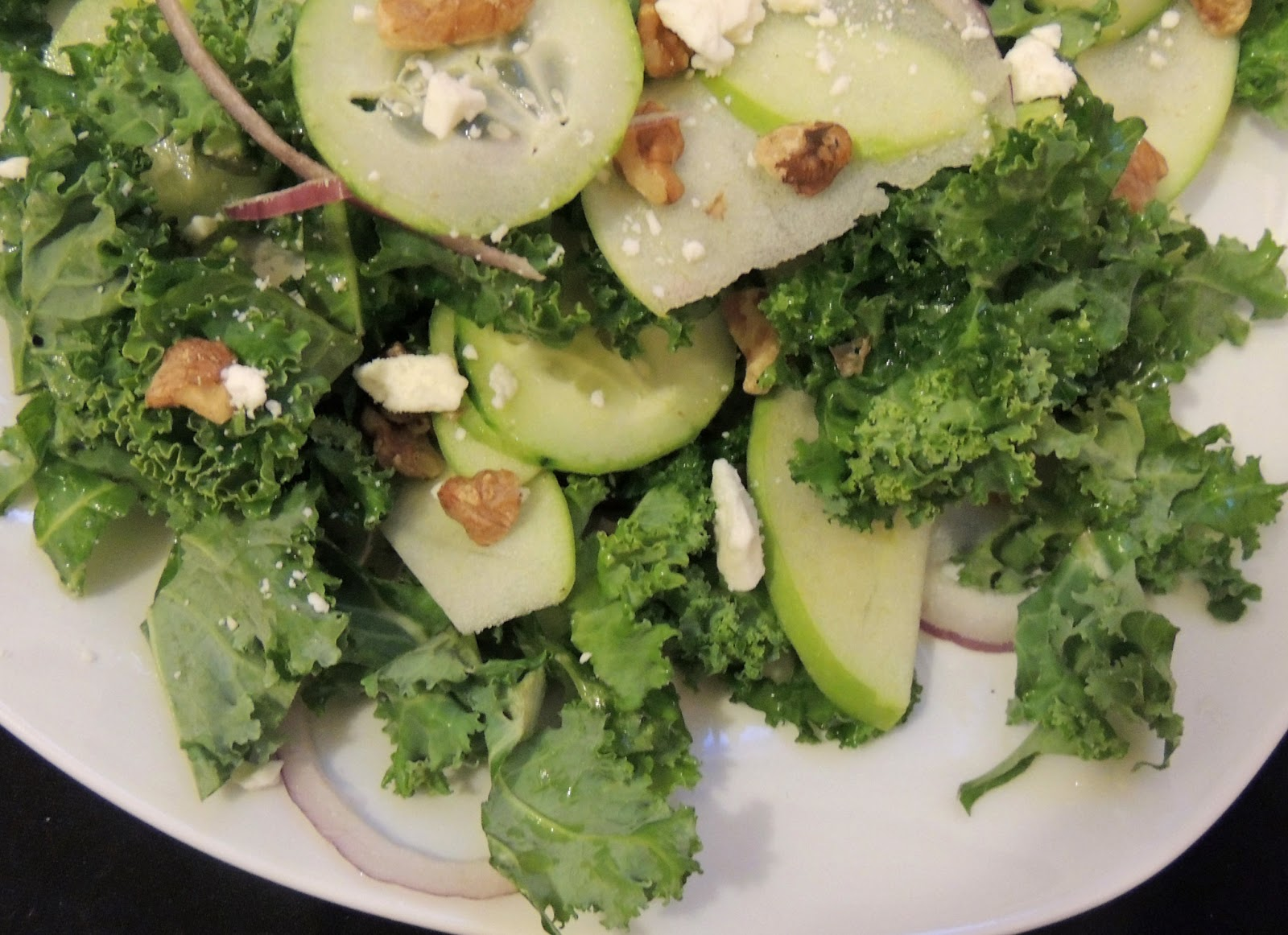 Apple, Kale, And Feta Salad Recipe — Dishmaps