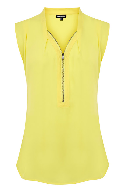 yellow zip blouse