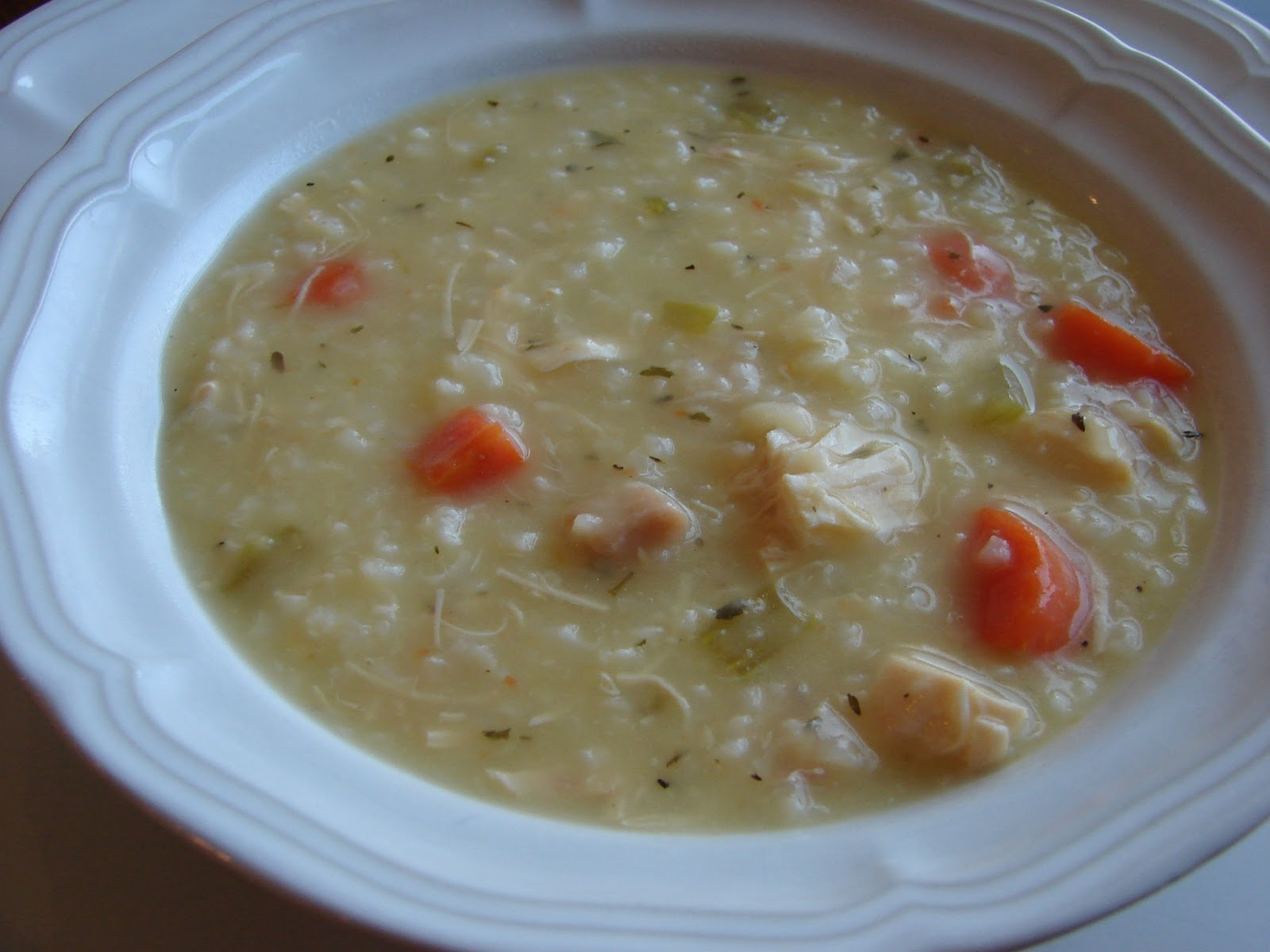 Bear in the Kitchen: Crock Pot Creamy Chicken and Rice Soup