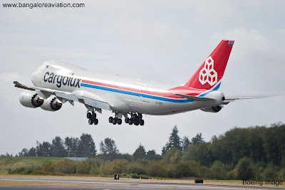 First Boeing 747-8F freighter. CargoLux LC-VCB