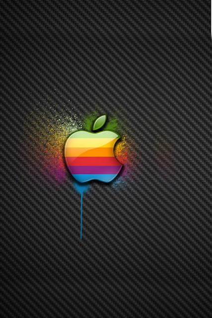 Color Apple iPhone Wallpaper By TipTechNews.com