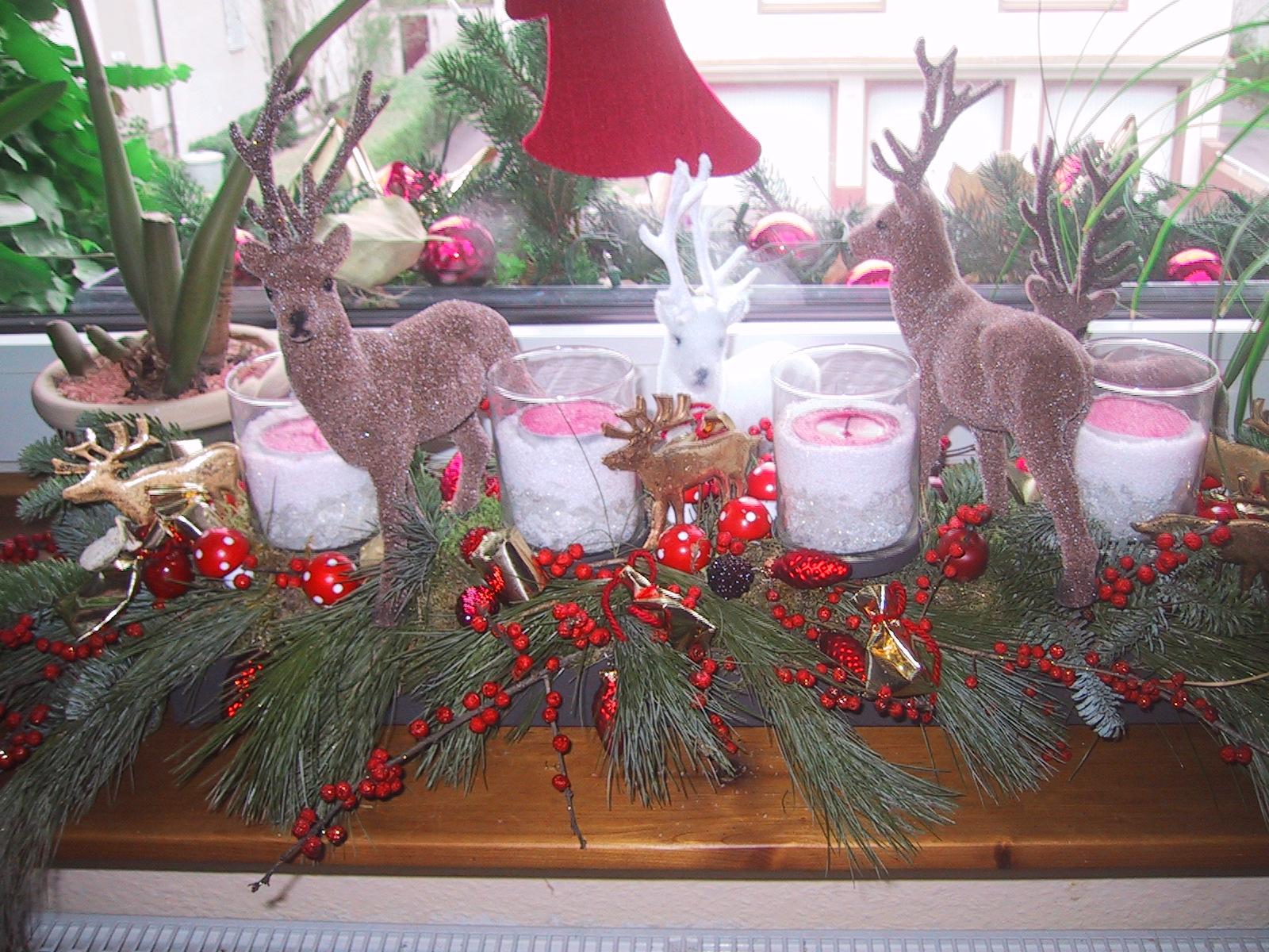 IMG_0047 Schöne Fensterbank Weihnachtlich Dekorieren Dekorationen