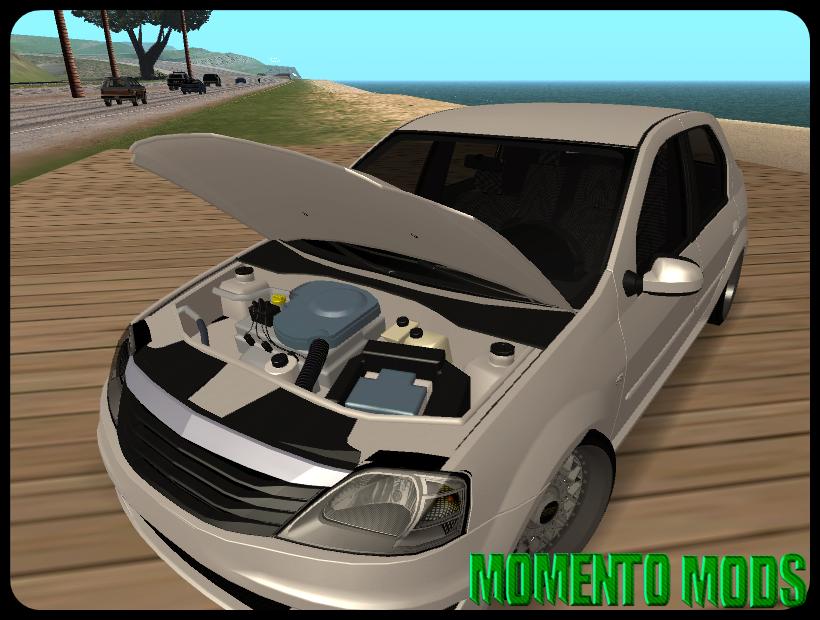 GTA SA - Renault Logan White + BBS