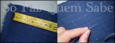 Marcando o tecido para bordar em ponto capitonê