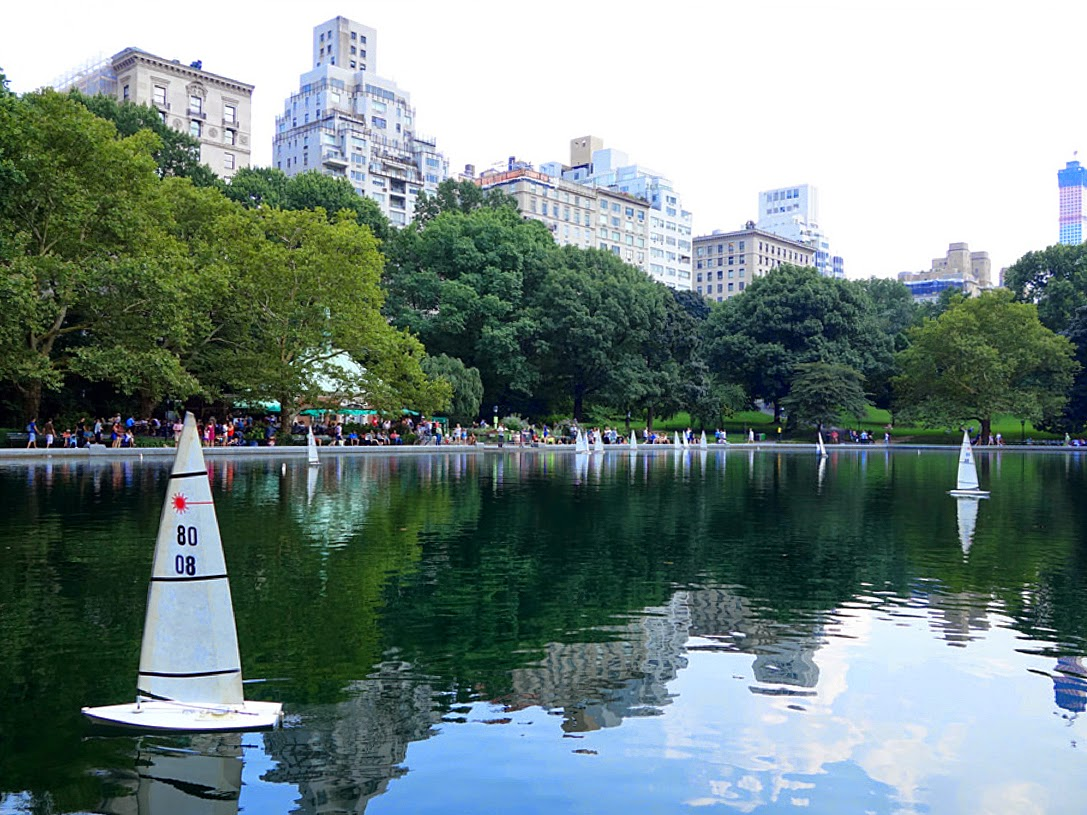 Boat pond in Central Park, NYC