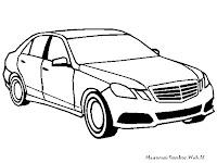 Mewarnai Gambar Mobil Mercedes E-Class Sport