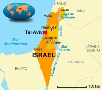 Mapa geográfico de Israel