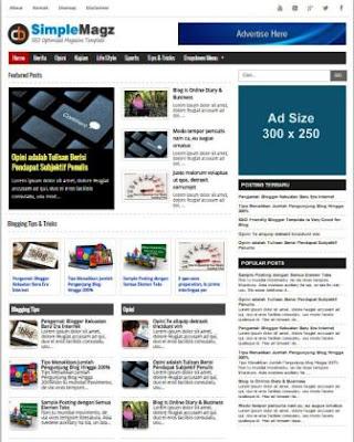 Simple Magz - Template Blog Majalah/Berita