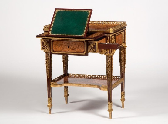 A small writing table by Jean-Henri Riesener made for Marie Antoinette 1780-1785