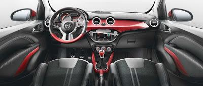 Plansa de bord a noului Opel Adam
