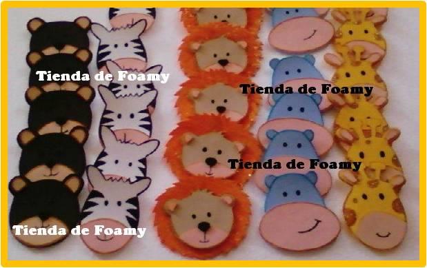 TIENDA DE FOAMY: Distintivos Safari Baby