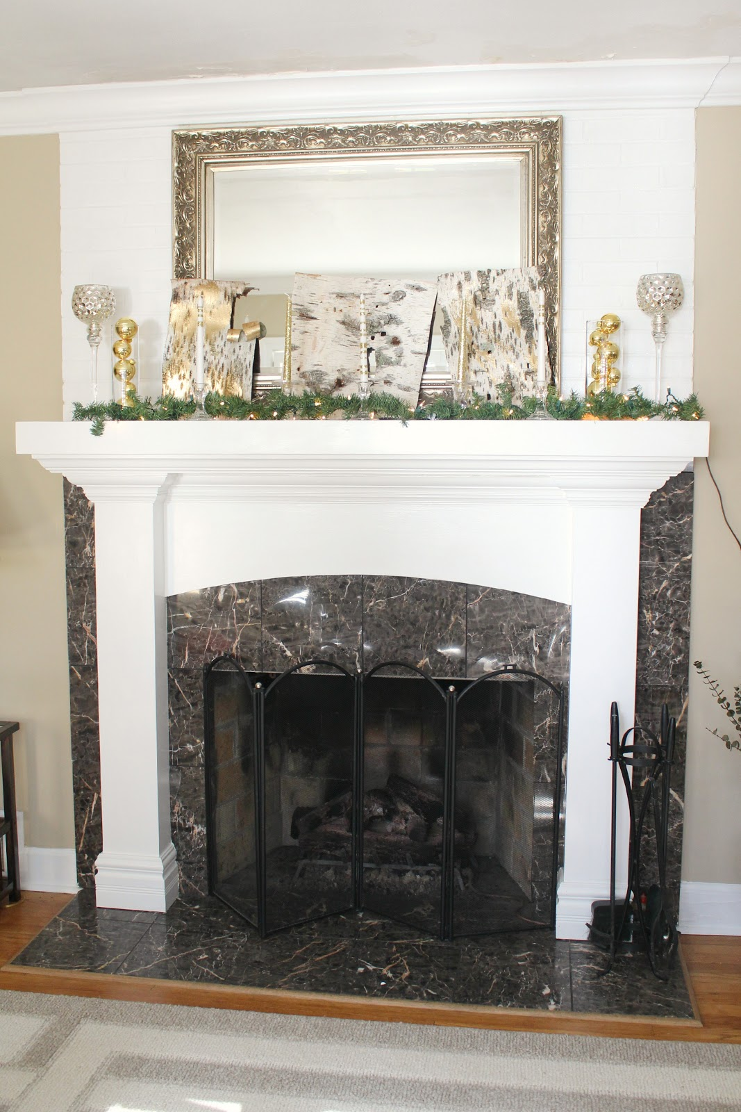 Ten June Rustic Glam Christmas Mantel amp A Link Party