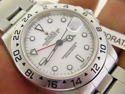 ROLEX EXPLORER II WHITE POLAR DIAL 40mm-ROLEX 16570 SERIE U YEAR 1997-AUTOMATIC CAL 3185 - BOX BOOK