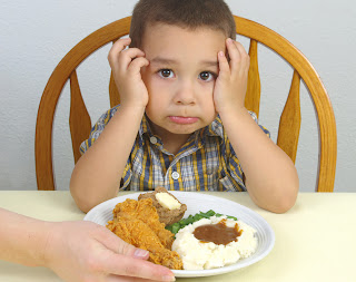 boy upset about meal