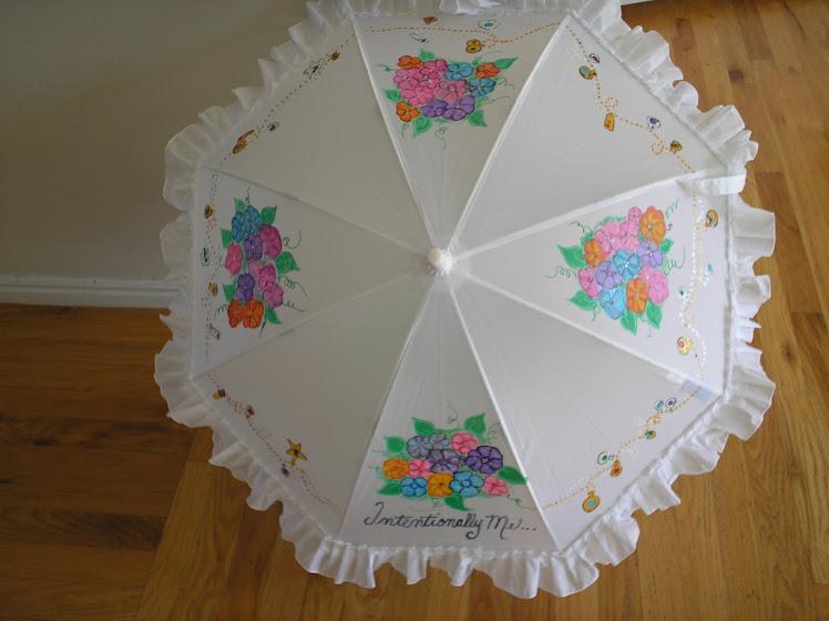 white parasol