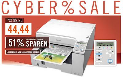 Ricoh Aficio GX e2600 Farbdrucker (Geldrucker) bei Cyberport für 44,44 Euro inklusive Versandkosten