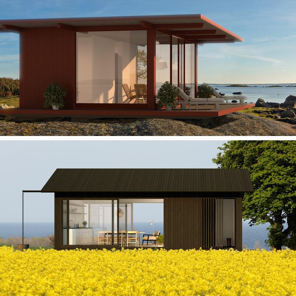Biuro no 5 skandynawskie inspiracje domek letniskowy - Casas de madera pequenas ...