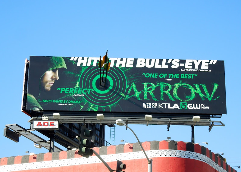 Arrow Hit the bullseye special installation billboard