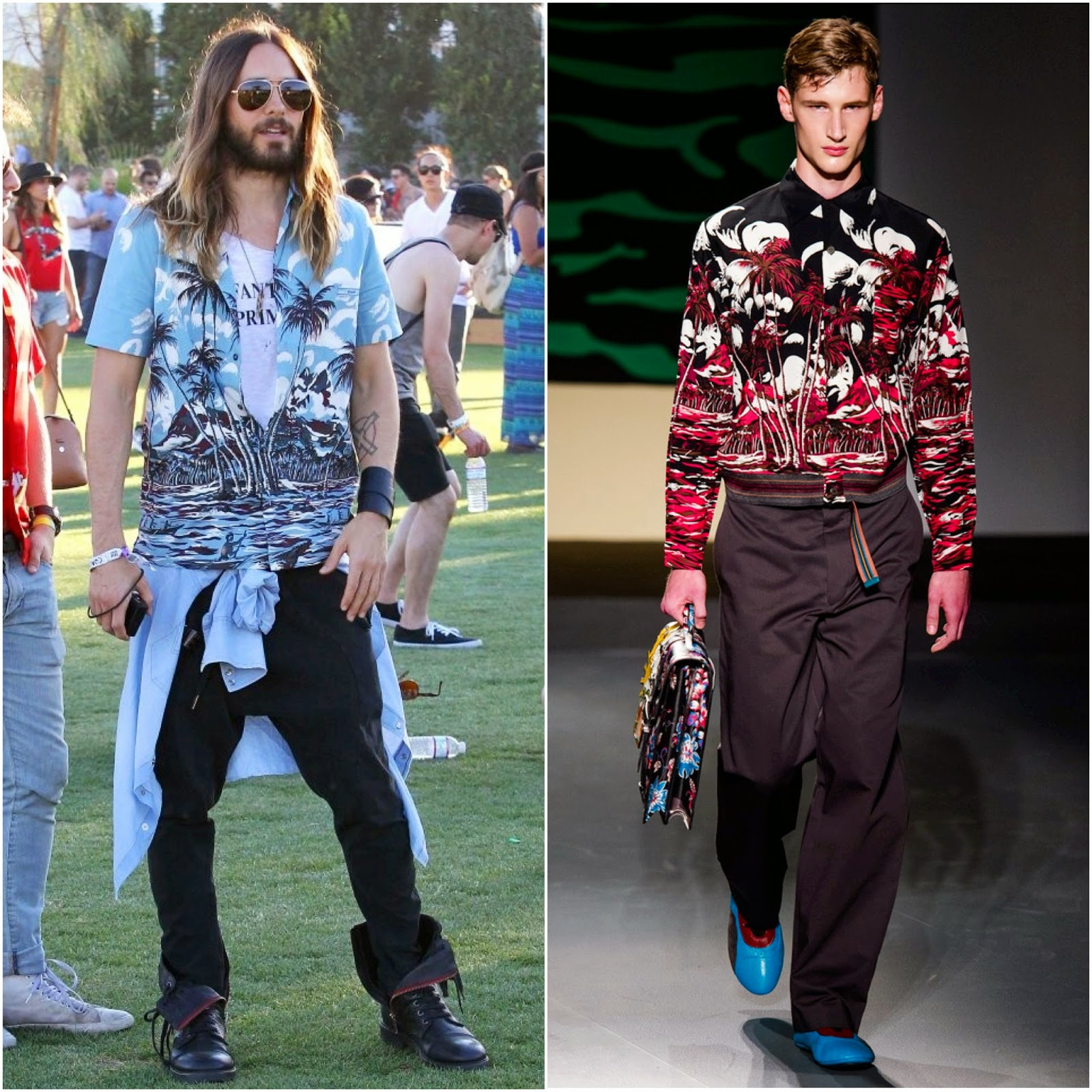 Jared Leto in Prada - 2014 Coachella Valley Music & Arts Festival