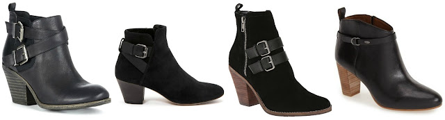 One of these pairs of buckle booties is from Aquatilia for $495 and the other three are under $100. Can you guess which one is the more expensive pair? Click the links below to see if you are correct!