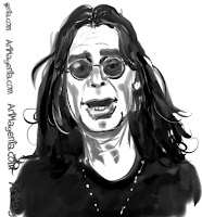 Ozzy Osbourne is a caricature by Artmagenta