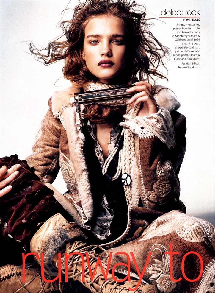 Natalia Vodianova in Runway to reality | Vogue US November 2002