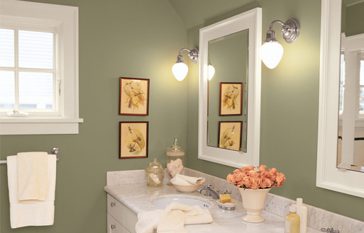 Home Color Show of 2012: Bathroom wall paint