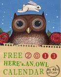 <b>Owl Lover 2013 Calendar FREE!</b>