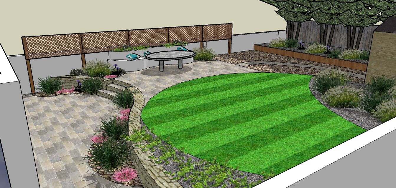 Gallery blog for Split level garden designs