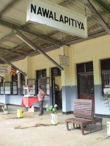 panneau de train au sri Lanka