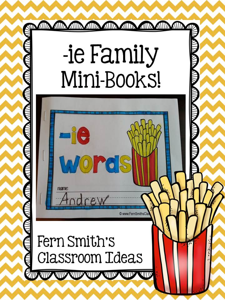 Fern Smith's Printable Phonics Mini-Books for the -ie Family