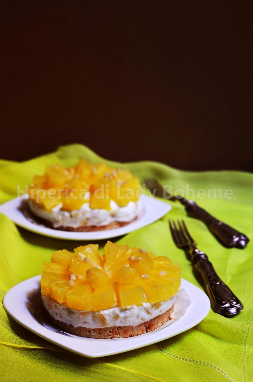 hiperica_lady_boheme_blog_cucina_ricette_gustose_facili_veloci_mini_cheesecake_senza_cottura_alla_ricotta_e_ananas_2