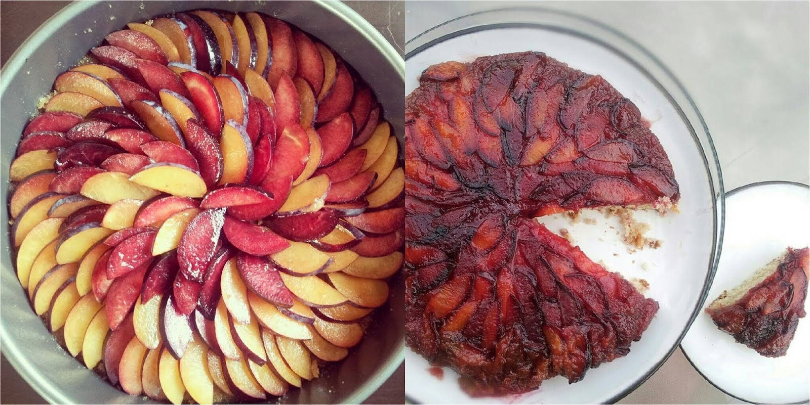 The Gregarious Glutton: Brown Butter Plum Upside Down Cake