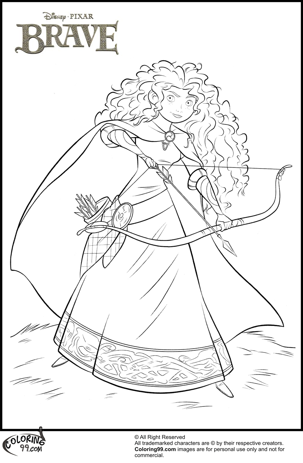 Disney Princess Merida Coloring