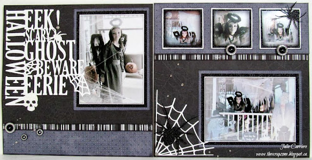 Halloween Scrapbooking Layout
