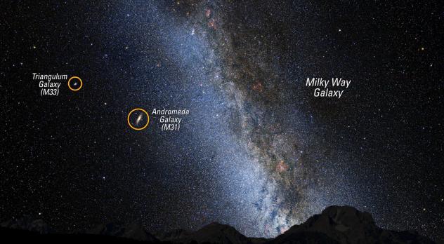 milky way compared to andromeda galaxy - photo #1