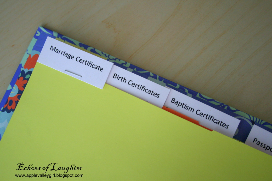 how to make a family documents binder With family documents binder