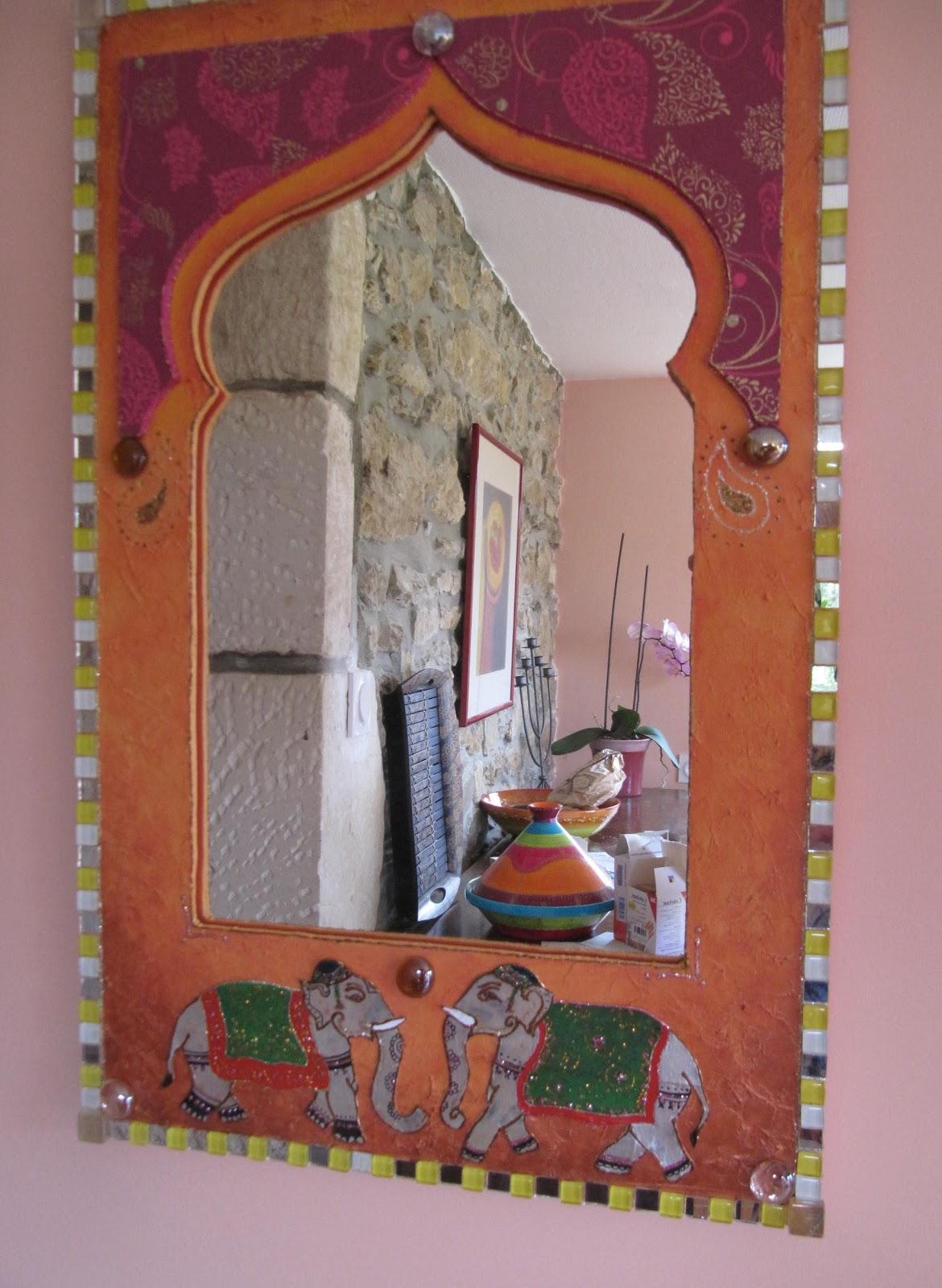 S verine peugniez cr ations miroir oriental cr ation sur for Peinture mosaique