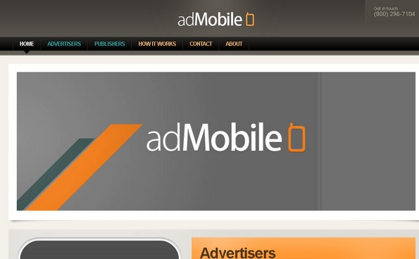 adMobile mobile advertising network
