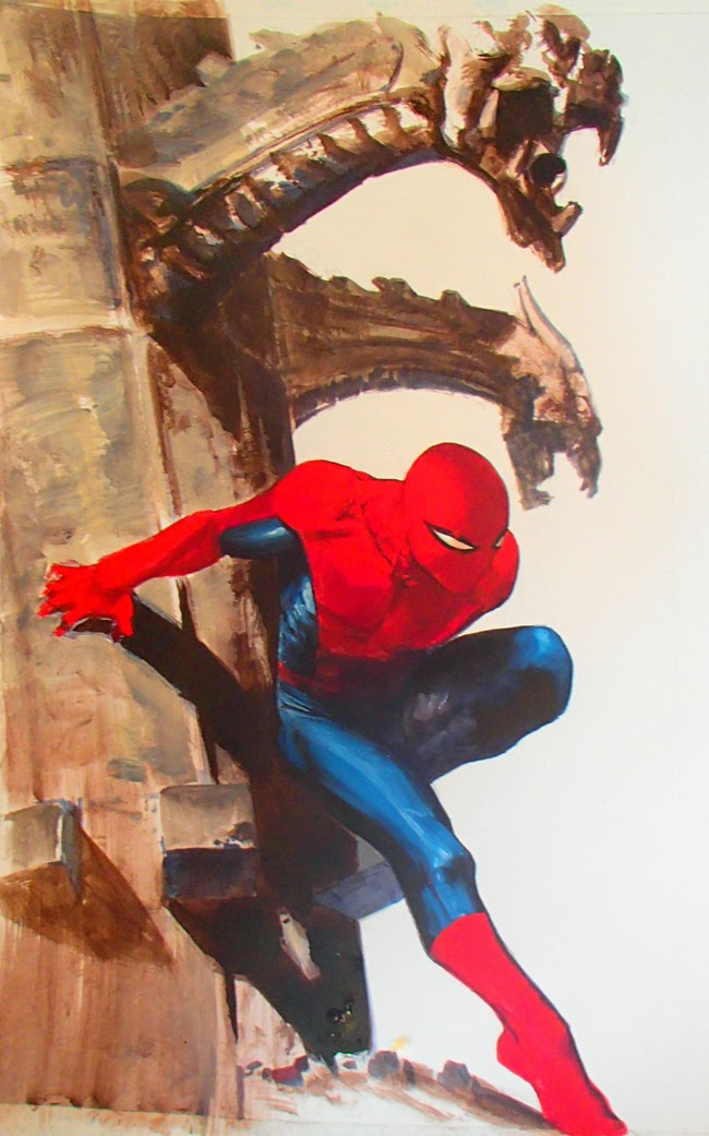 Spider-Man Uomo Ragno Gabriele Dell'Otto WIP