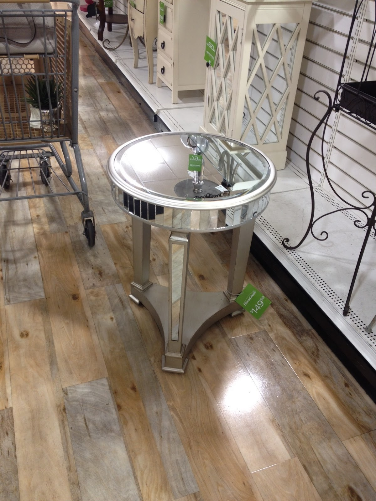 . Not So Newlywed McGees  Mirrored Pedestal Table
